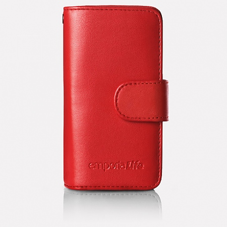 Leather case with wrist strap